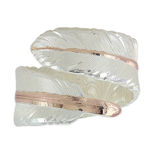 Women's  Rose Gold Filament Feather Ring