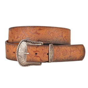 Women's  Floral Embossed Belt