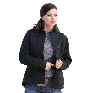 Women's  Concealed Carry Black Bonded Jacket