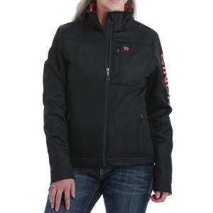Women's  Concealed Carry Embossed Hooded Jacket