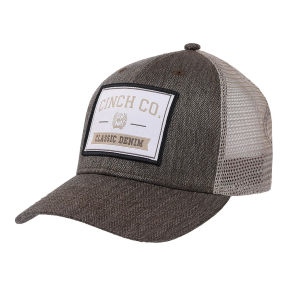 Men's  Classic Denim Patch Trucker Cap