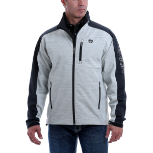 Men's  Textured Color Blocked Bonded Jacket