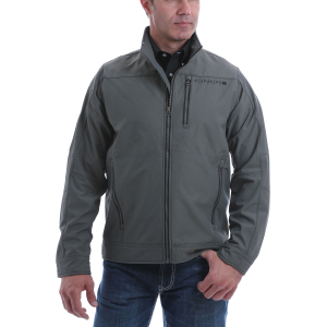 Men's  Textured Bonded Jacket with Fleece Lining