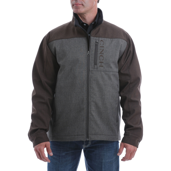 Textured Color Blocked Bonded Conceal Carry Jacket