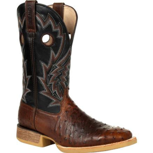 Men's  Rebel Pro Oiled Saddle Ostrich Western Boot