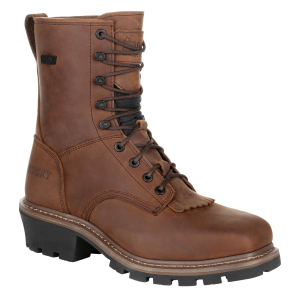"Men's  Square Toe Logger 9"" Waterproof Work Boot"