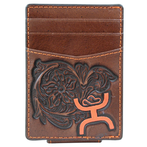 Men's  Signature Floral Tooled Money Clip