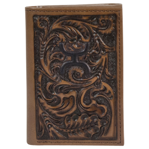 Men's  Signature Tooled Tri-Fold Wallet