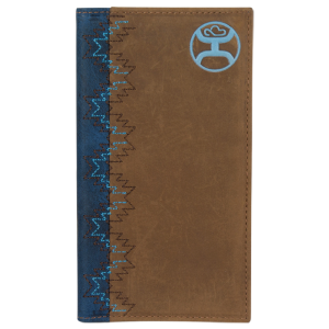 Men's  Rodeo Wallet Brown/Navy/Dusty Turquoise