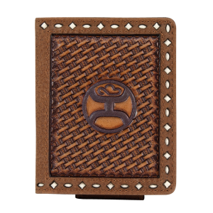 Men's  Basketweave Bi-Fold Card Wallet