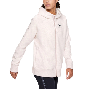 Women's  UA Rival Fleece Sportstyle LC Sleeve Graphic Full-Zip