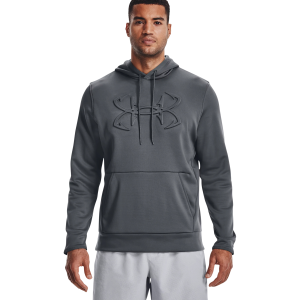 Men's  Long Sleeve UA Armour Fleece Embossed Fish Hook Hoodie