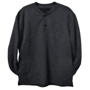 Men's  Waffle Knit Snap Sherpa Lined Henley Shirt