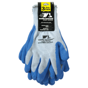 Men's  Latex Coated Glove - 3 Pack