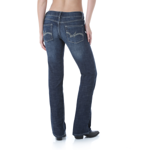 Women's  Mae Boot Cut Jean Simple Pocket - Dark Blue