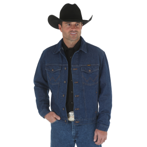 Men's  Denim Prewashed Western Jacket