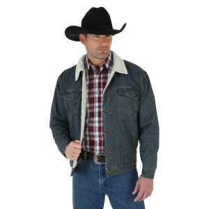 Men's  Sherpa Lined Denim Jacket - Rustic Blue