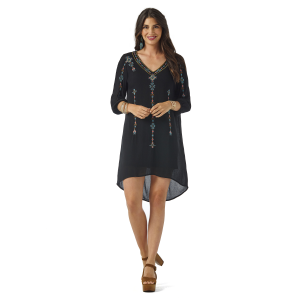 Women's  Embroidered Long Sleeve Dress