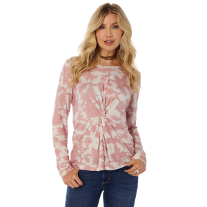 Women's  Pink Tie Dye Knotted Top