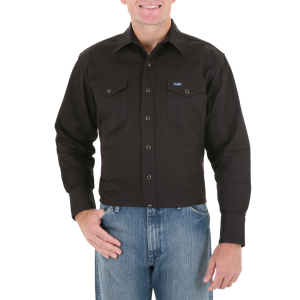 Men's  Cowboy Cut Cotton Twill Shirt