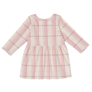 Girls'  Infant/Toddler Blush Plaid Long Sleeve Dress