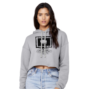 Women's  Wyoming Bison Roots Crop Hoodie
