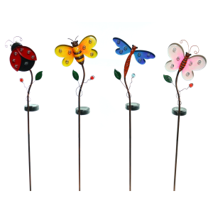 "36"" Solar Powered Insect Garden Stake - Assorted"