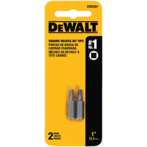 "#1 Square Recess 1"" Bit Tips DW2201 - 2-Pack"