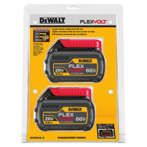 20V/60V MAX* FLEXVOLT 6.0 Ah Battery Dual Pack DCB606