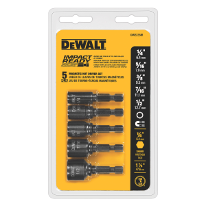 5-piece Magnetic Impact Ready NutDriver Set DW2235IR