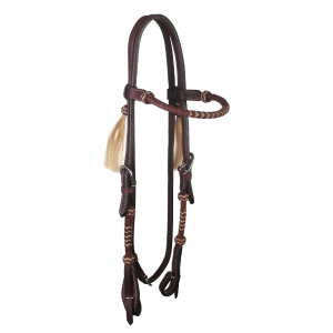 Browband Headstall with Contrasting Weave