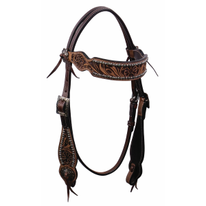 Vintage Flower Dots Browband Headstall