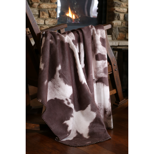Cowhide Faux Suede Throw Blanket