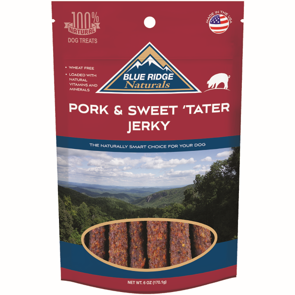 Pork & Sweet 'Tater Jerky Dog Treats