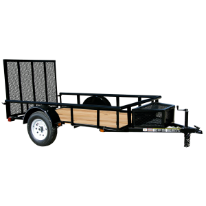5.5 x 10 Wood Floor Trailer with Ramp Gate