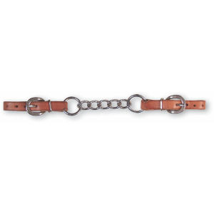 Harness Leather Curb Strap w/5 Chain Links