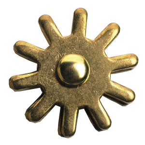 "11/16"" 10-Point Brass Rowel"