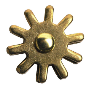 "1-1/4"" 10-Point Brass Rowel"