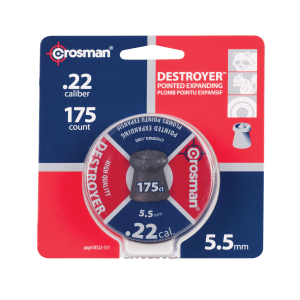 .22 Destroyer 14.3 Grain Pointed Expanded Pellets - 175 Count