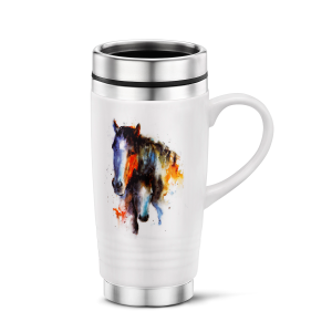 14 oz A Mother's Love Mare & Foal Travel Mug