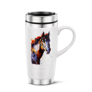 14 oz Poncho Horse Travel Mug