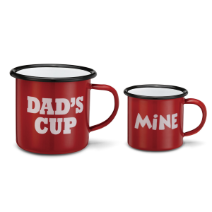 Enamelware Dad's Cup/My Cup Mug Set