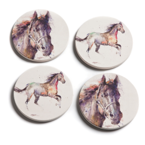 Dean Crouser Horse Coaster Set of 4
