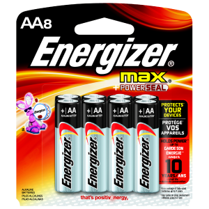 AA Alkaline Battery - 8-Pack