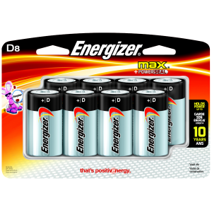 MAX D Batteries - 8-Pack
