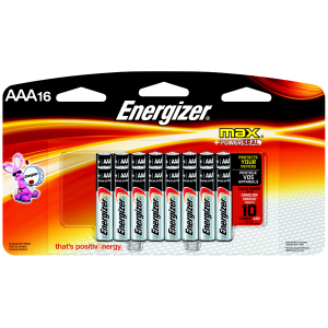 AAA Alkaline Battery - 16-Pack