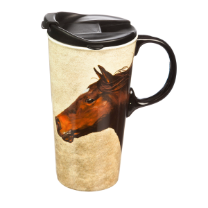 Horse On The Run Latte Mug