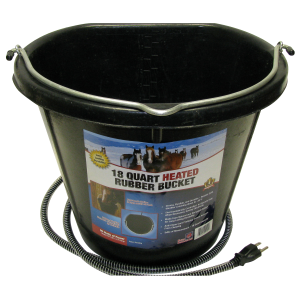 Flat-Back Heated Rubber Bucket