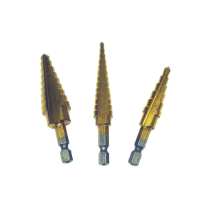 3-Piece Step Drill Bit Set