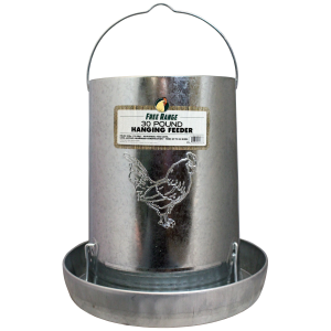 Hanging Galvanized Poultry Feeder - 30 lb
